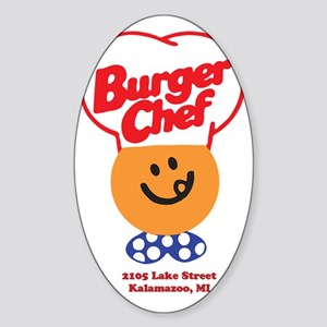 Burger Chef Kalamazoo Lite Sticker (Oval)