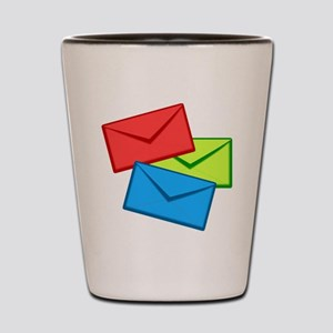 Multi-Colored Envelopes Shot Glass
