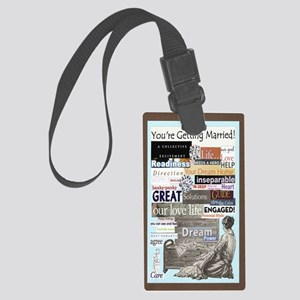 engagedhope5x8reg Large Luggage Tag