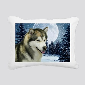 Malamute Rectangular Canvas Pillow