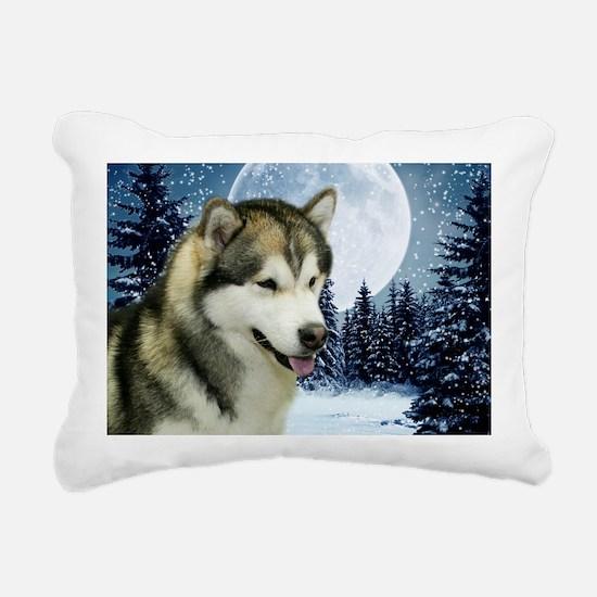 Malamute Rectangular Canvas Pillow