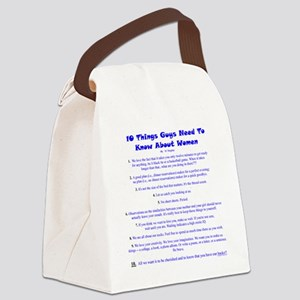 10ThingsWomenThink Canvas Lunch Bag