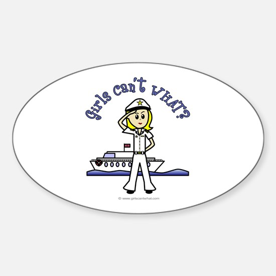 Light Captain Oval Decal