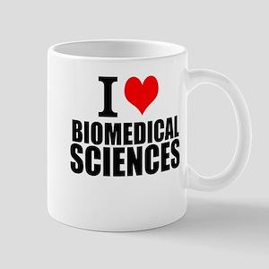 I Love Biomedical Sciences Mugs