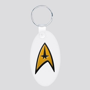 STAR TREK Classic INSIGNIA Aluminum Oval Keychain