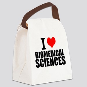 I Love Biomedical Sciences Canvas Lunch Bag