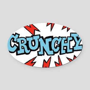 crunchy_blue Oval Car Magnet
