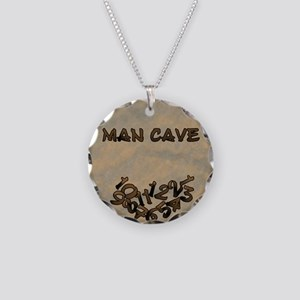 Man Cave Fallen Numbers Necklace Circle Charm