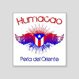 "Humacao W Square Sticker 3"" x 3"""