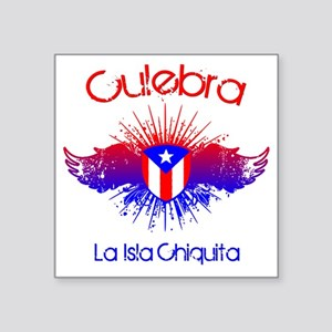 """Culebra W Square Sticker 3"""" x 3"""""""