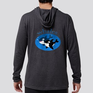 Whales (3) Mens Hooded Shirt
