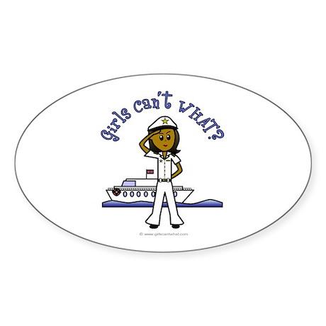 Dark Captain Oval Sticker