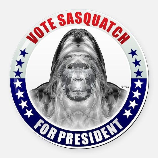 may_vote_sasquatch Round Car Magnet