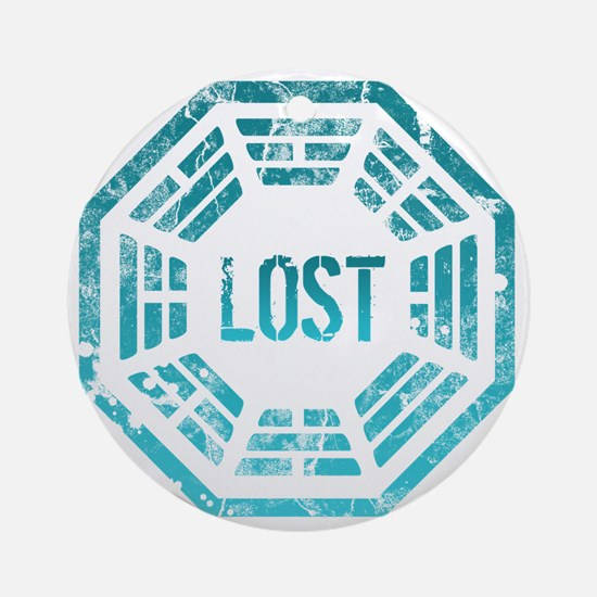 Lost Dharma Blue Round Ornament