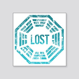 "Lost Dharma Blue Square Sticker 3"" x 3"""
