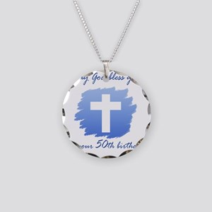 Cross50 Necklace Circle Charm
