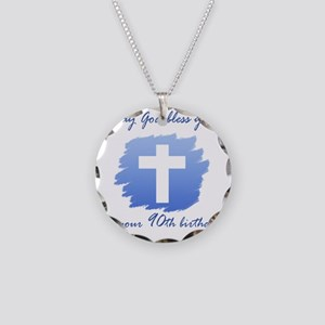 Cross90 Necklace Circle Charm