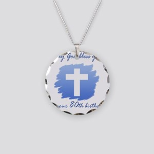 Cross80 Necklace Circle Charm