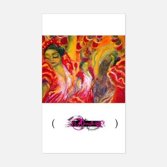 Flamenco, Rectangle Decal
