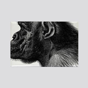 Chimp Profile Rectangle Magnet