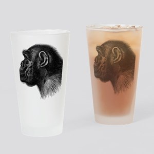 Chimp Profile Drinking Glass
