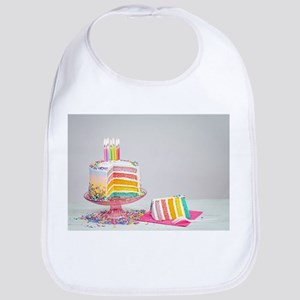 rainbow birthday cake Baby Bib