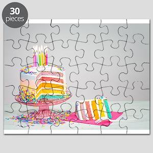 rainbow birthday cake Puzzle
