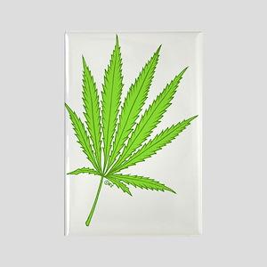 marijuana leaf-color-lg-001 Rectangle Magnet