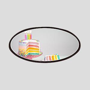 rainbow birthday cake Patch