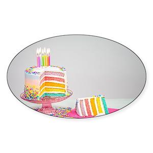 Birthday Cake Stickers Cafepress