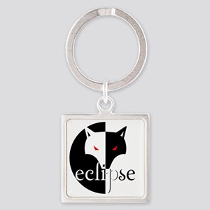 eclipse illusion wolf by twibaby Square Keychain