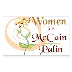 Women for McCain Palin Bumper Decal
