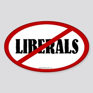 No Liberals Oval Sticker