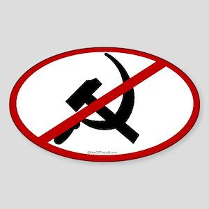 No Communists Oval Sticker