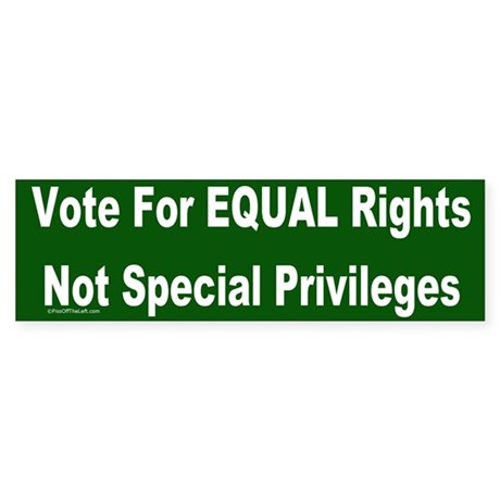 Anti-Affirmative Action Bumper Sticker