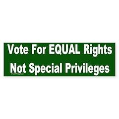 Anti-Affirmative Action Bumper Bumper Sticker