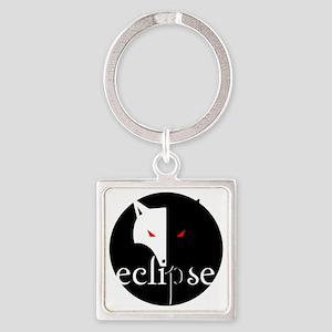 eclipse dark night by twibaby Square Keychain