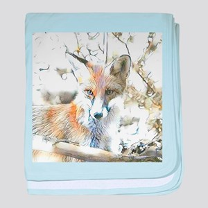 fascinating altered animals - Fox baby blanket