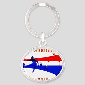 Serbia copy Oval Keychain