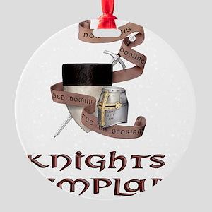 knights templar non nobis Round Ornament