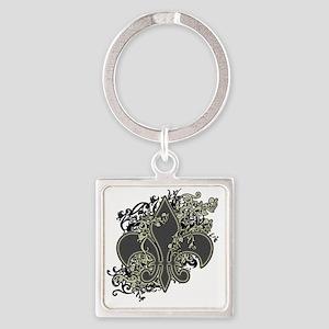 fleur_de_lis Square Keychain