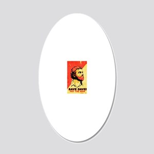 savedave 20x12 Oval Wall Decal