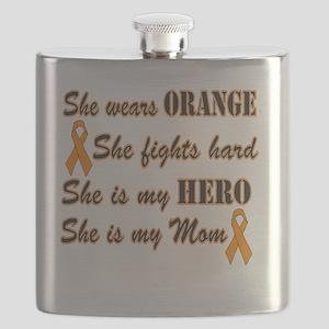 She is Mom Orange Hero Flask