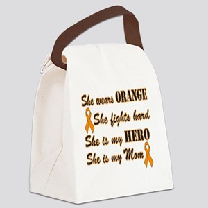 She is Mom Orange Hero Canvas Lunch Bag