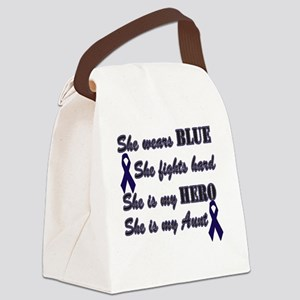 She is Aunt Blue Hero Canvas Lunch Bag