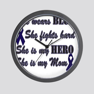 She is Mom Blue Hero Wall Clock