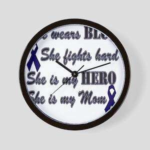 She is Mom Blue Hero Wall Clock