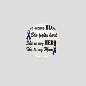 She is Mom Blue Hero Mini Button