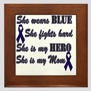She is Mom Blue Hero Framed Tile