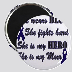 She is Mom Blue Hero Magnet